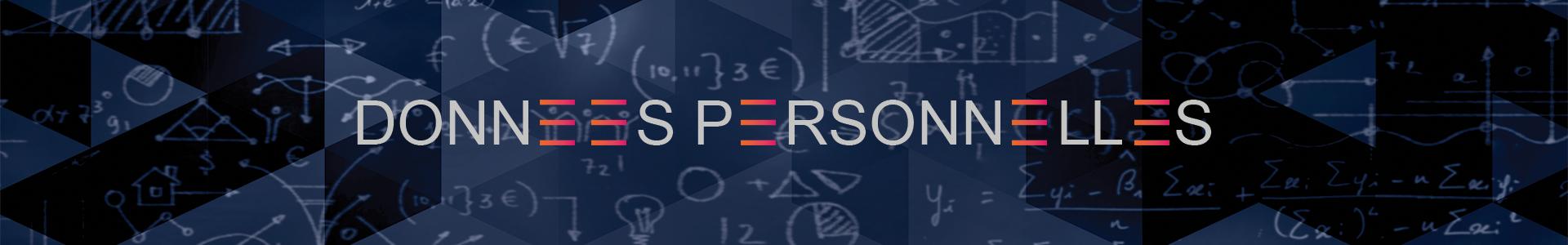Banniere données personnelles